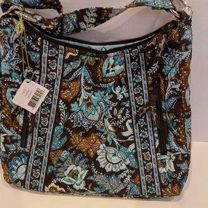 Vera Bradley Lisa B Java blue shoulder purse